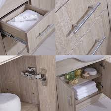 Sink And Toilet Combo Milano Classic Oak 1440mm Combination Bathroom Vanity Unit Toilet