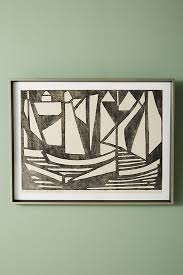 slide view 2 woodcut boats wall art on boat wall art with woodcut boats wall art anthropologie
