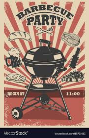 Barbecue Flyers Barbecue Party Flyer Template Grill Fire Grilled
