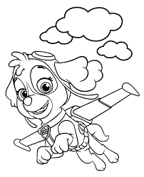 Coloring Pages Free Paw Patrol Skye Coloring Pages G Page Print