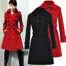 finejo women s slim double ted coat woolen jacket winter long coat outerwear b00otb23gu