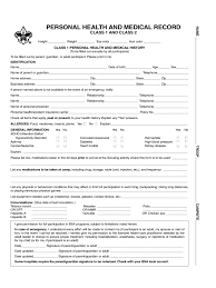 Boy Scout Medical Form Bsa Medical Form Wowcircletk 11