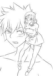 Fairy Tail-Gray and Juvia Outlines by HardyDytonia on DeviantArt