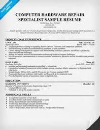 resume sample format computer technician computer technician sample resume