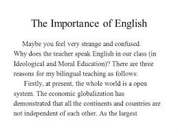 essay why english is important in importance of english language in higher education