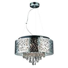 decor living helix 9 light chrome chandelier shade