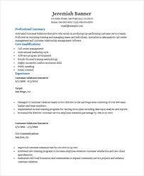 Customer Executive Resume. Customer Relationship Resume
