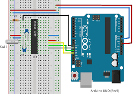 using arduino as an isp to program a standalone atmega 328p standalone atmega 328p arduino isp