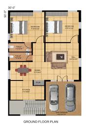 north facing double bedroom house plan per vastu plans