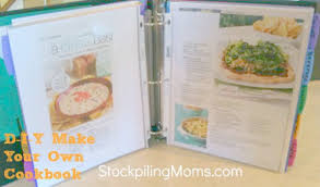 How To Make A Recipe Book D I Y Make Your Own Cookbook