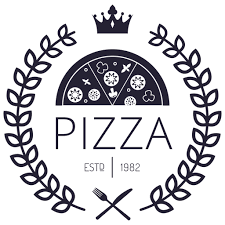 Pizza logo with crowns - Transparent PNG & SVG vector