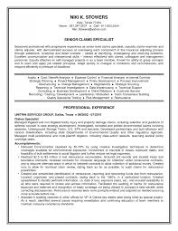 Claims Adjuster Resume Resumes No Experience Workers Compensation
