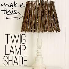 Diy Lamp Shades Awesome DIY Twig Lamp Shade