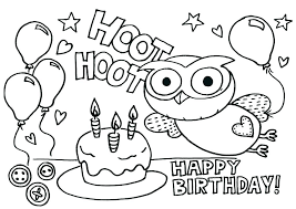 Birthday Coloring Pages Free Coloring Source Kids