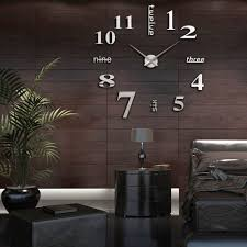 3d diy large wall clock stickers frame less