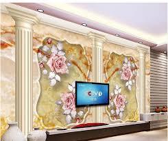Gratis Bezorging 3d Behang Voor Kamer Marmer Romeinse Pilaren