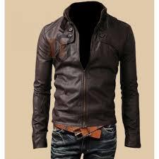 slim fit on pocket brown jacket brown leather jackets