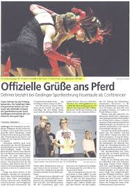 Zeitungsbericht Sportlerehrung Geislingen 2015