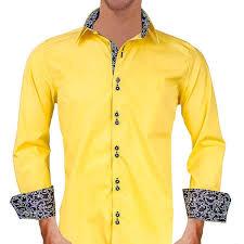 Black Designer Dress Shirt Buy Bright Yellow With Black Metallic Designer Dress Shirts