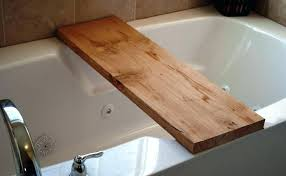 image of bathtub shelf tray caddy plans