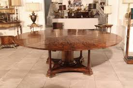 84 inch round gany dining table with 8 leaves in place