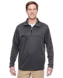 Harriton Size Chart Harriton M730 Adult Task Performance Fleece Half Zip Jacket