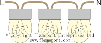 series and parallel circuits 3 lamps wired in series
