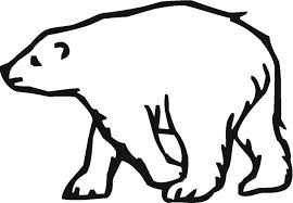 Small Picture Polar Bear Outline early play templates Polar Bear color in