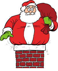 santa claus chimney clipart. Santa Claus CET When Got Stuck Up The Chimney Clip Art Intended Clipart