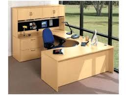 curved office desk computer desks corner u shaped studio ikea