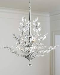 at horchow horchow upside down 9 light silver leaf chandelier