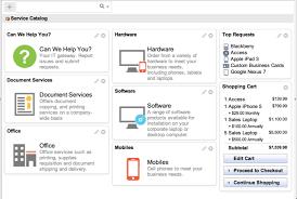 default service catalog homepage png