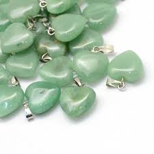 details about natural green aventurine crystal heart gemstone pendant 18mm uk