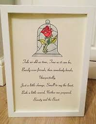 Beauty And The Beast Rose Quote Best Of Beauty The Beast Disney Stain Glass Rose Song Quote Art Print
