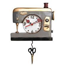 Allen Designs Back Stitch Sewing Pendulum Wall Clock By Allen Designs Alarmclocksonline Com