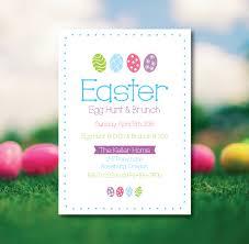 Easter Brunch Invitation Easter Egg Hunt Invitation