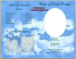 Free Download Funeral Program Template Interesting Memorial Service Template Free Templates Funeral Program