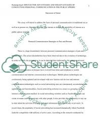 discuss the advantages and disadvantages of conducting personal essay  text preview