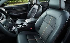 2019 nissan altima black leather interior front seats