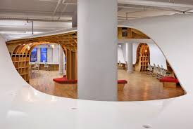 futuristic office ditches cubicles super. this project is proof of the power plywood but more so defiant creativity as designer said conventional offices are now futuristic office ditches cubicles super a