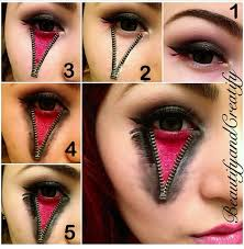 zipped eye look tutorial so cool possible idea