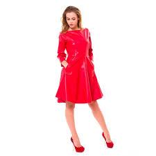 off shoulder faux leather dress