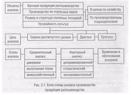 Состояние и пути совершенствования учета продукции растениеводства Схема анализа производства продукции растениеводства