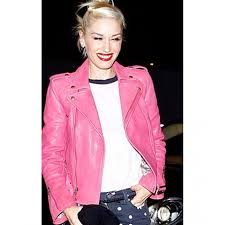 gwen stefani hot pink leather jacket
