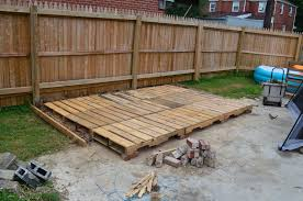 Decking Using Pallets Pallet Deck Day 4 Finishing The Pallets I Made This From The