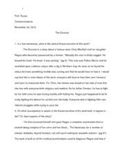the devil wears prada book analysis essay prof russo 5 pages the exorcist book analysis essay