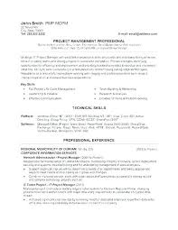 Project Manager Construction Resumes Construction Manager Resume Template Project Manager Resume Template