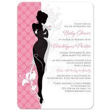 Baby Shower Tea Invitation | Pink, Black, Gray, White ...