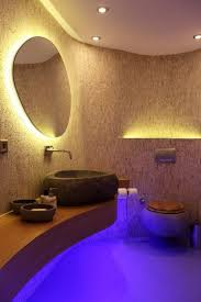 bathroom led lighting ideas. Introducing The Modern Lighting Bathroom Look. Place Blue LED Strip Lights Underneath Sink To Create That Beautiful Glow. Led Ideas
