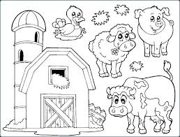 Coloring For Toddlers Animals Animal Coloring Pages Farm Animals For